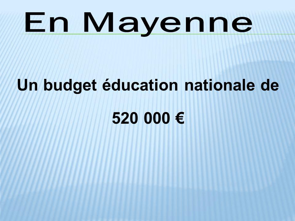 Un budget éducation nationale de 520 000 €