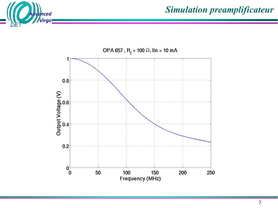 DET Simulation preamplificateur 7