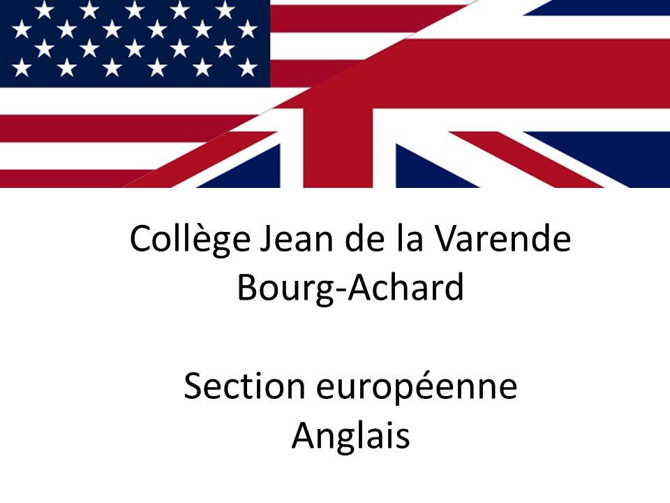 Collège Jean de la Varende Bourg-Achard Section européenne Anglais