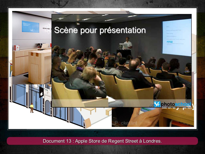 13 Document 13 : Apple Store de Regent Street à Londres. Le plus grand Apple Store du monde à Londres Easy pay Genious bar Scène pour présentation