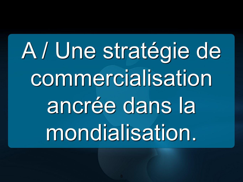 8 A / Une stratégie de commercialisation ancrée dans la mondialisation. 8