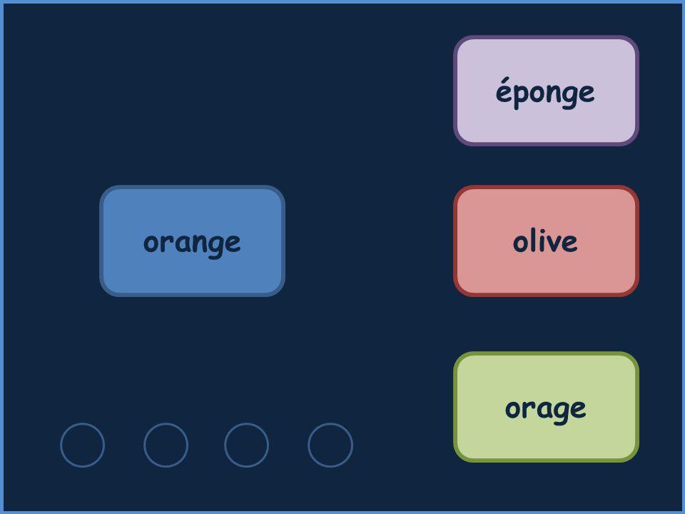 orange éponge olive orage