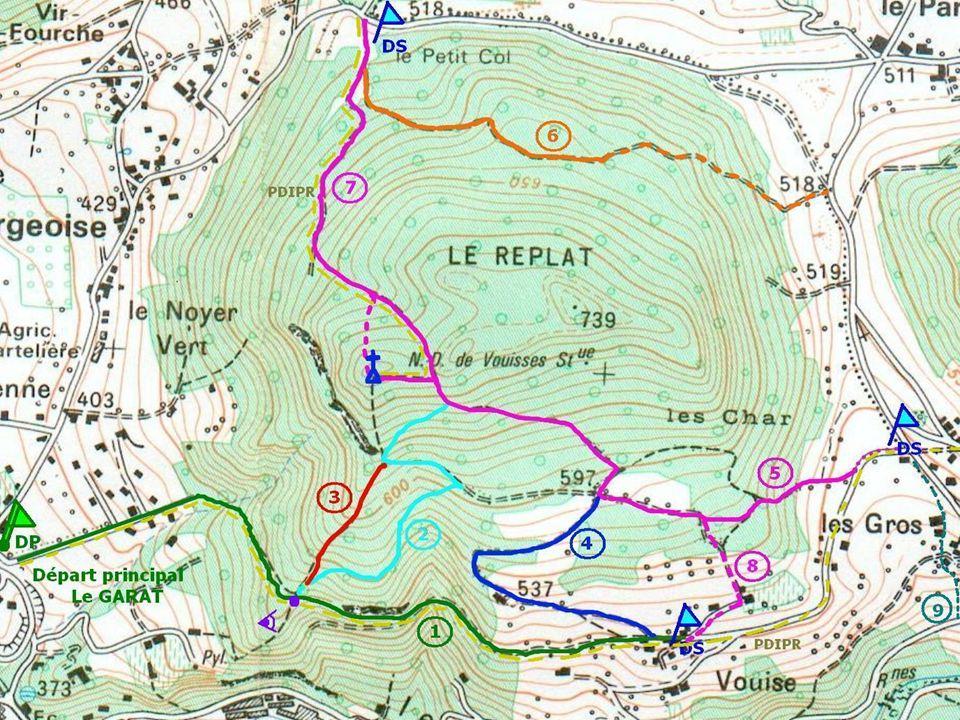 Souillet-Vouise-Belvédère GT2: Chemins de promenade et Sentiers cq1gt2@cq-voiron.fr Signalisation et balisage des Sentiers du secteur VOUISE • Simplif
