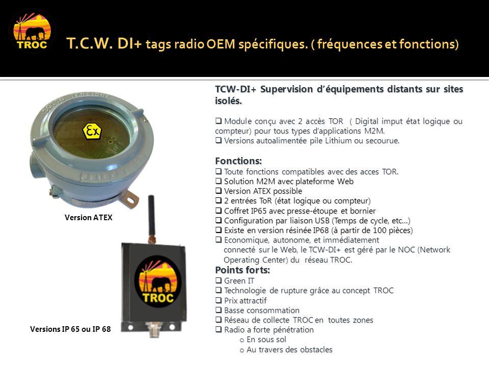 Inclus les brevets FR-12 T.C.W. DI+ tags radio OEM spécifiques.