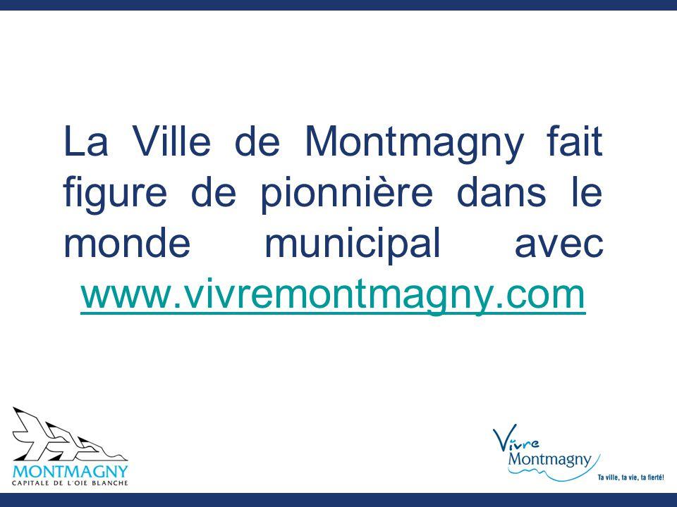 La Ville de Montmagny fait figure de pionnière dans le monde municipal avec www.vivremontmagny.com www.vivremontmagny.com