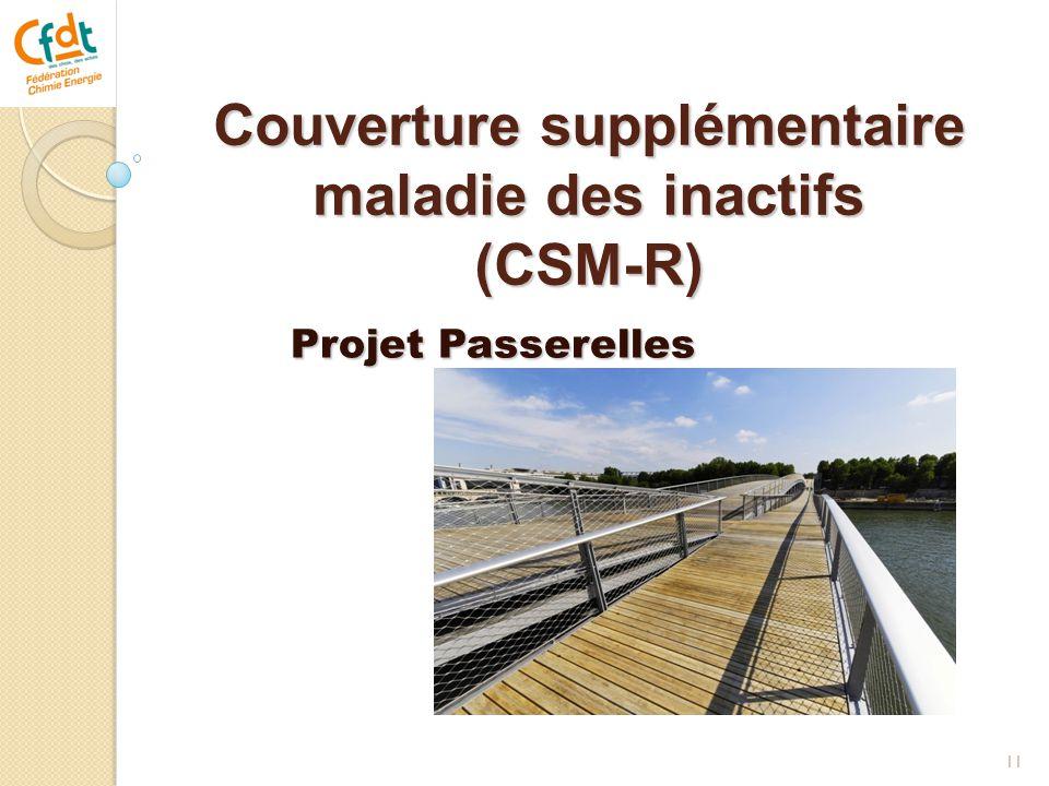 Couverture supplémentaire maladie des inactifs (CSM-R) 11 Projet Passerelles