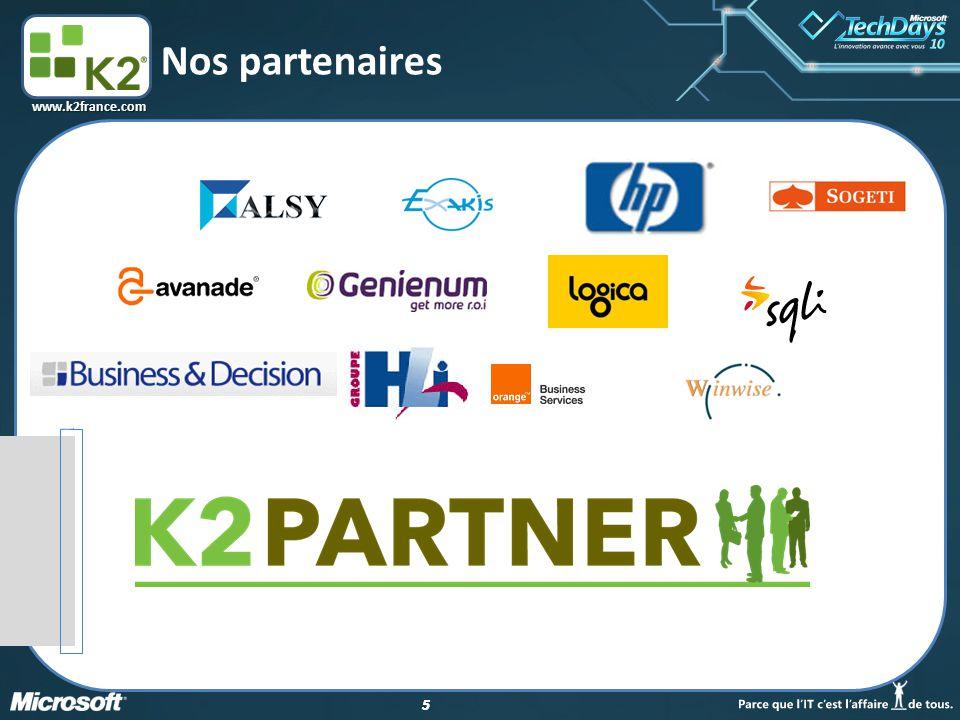 16 www.k2france.com Quelques copies d'écran Les outils de modélisation L'interface d'administration et de reporting Les interfaces utilisateur