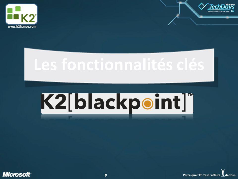 99 www.k2france.com Les fonctionnalités clés