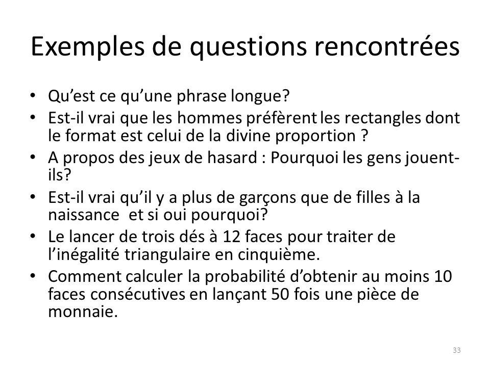 Exemples de questions rencontrées • Qu'est ce qu'une phrase longue.