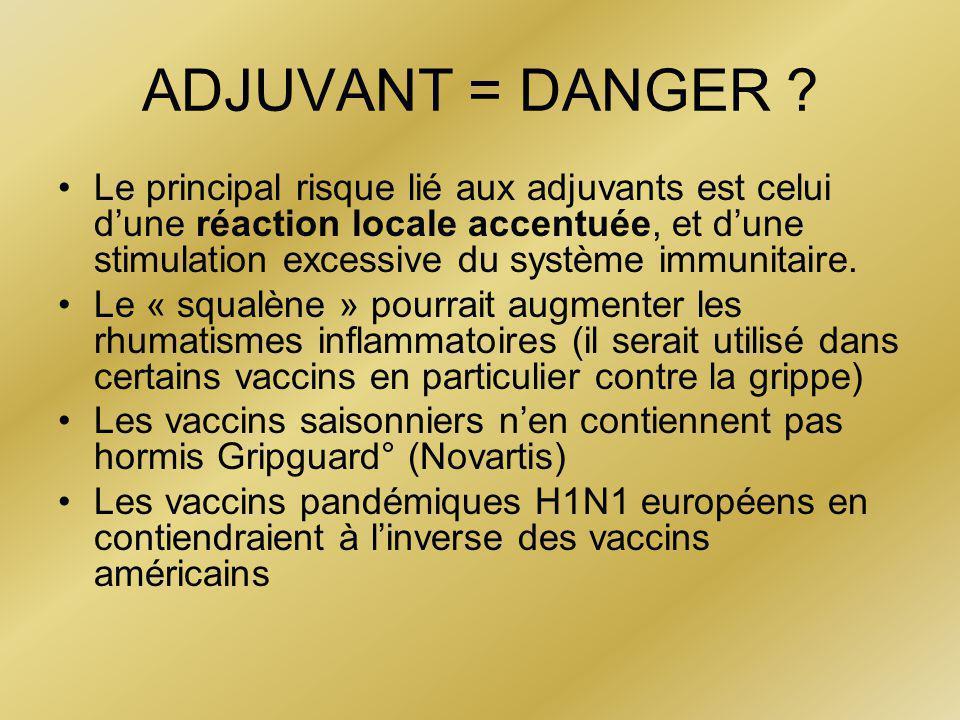 ADJUVANT = DANGER .