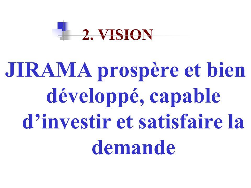 2. VISION JIRAMA prospère et bien développé, capable d'investir et satisfaire la demande