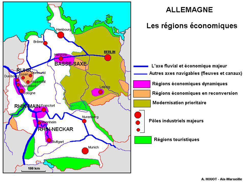 L'Allemagne est la 3ème puissance économique mondiale et la 1ère en Europe.