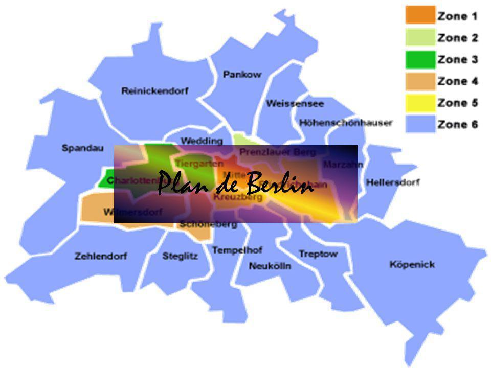 Berlin est une ville de 3,3 millions d'habitants qui est très étendue et très près de la frontière polonaise.