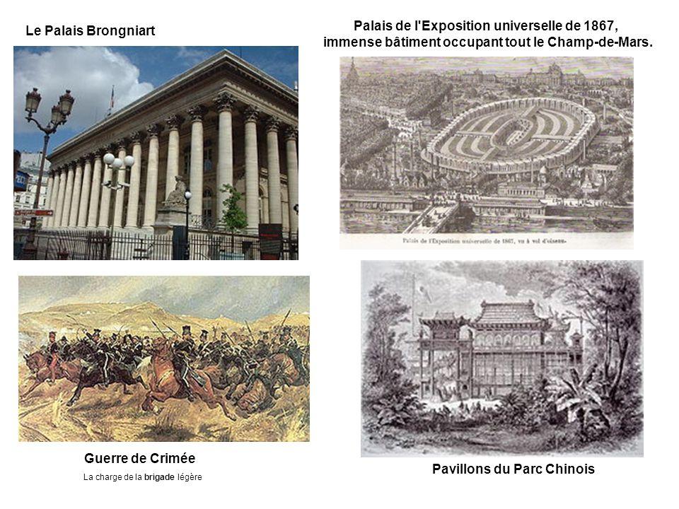 Le Palais Brongniart Palais de l Exposition universelle de 1867, immense bâtiment occupant tout le Champ-de-Mars.