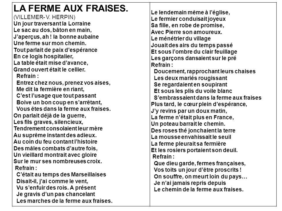 LA FERME AUX FRAISES.(VILLEMER- V.