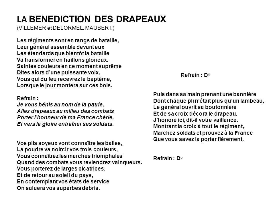 LA BENEDICTION DES DRAPEAUX.(VILLEMER et DELORMEL.
