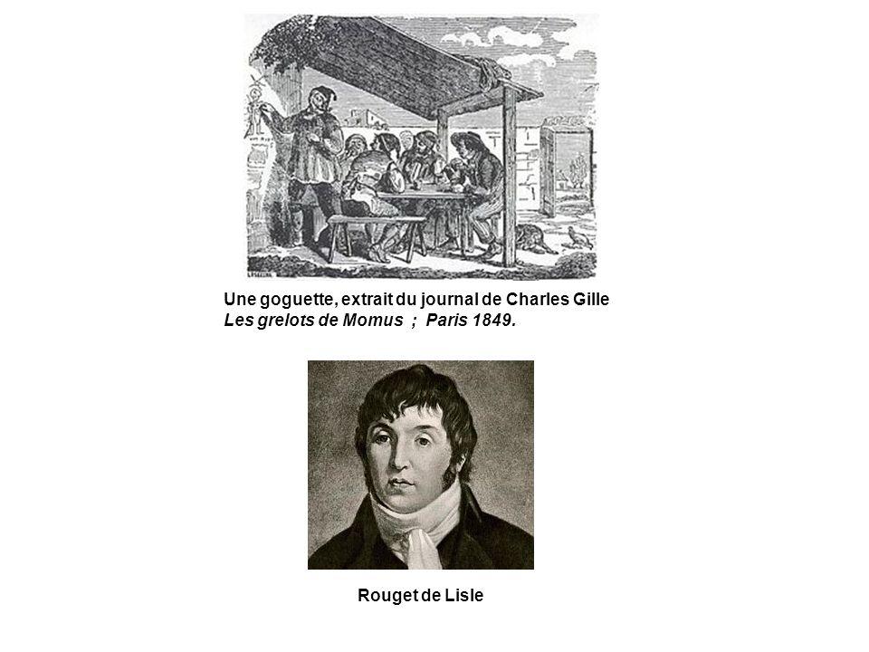 Une goguette, extrait du journal de Charles Gille Les grelots de Momus ; Paris 1849.
