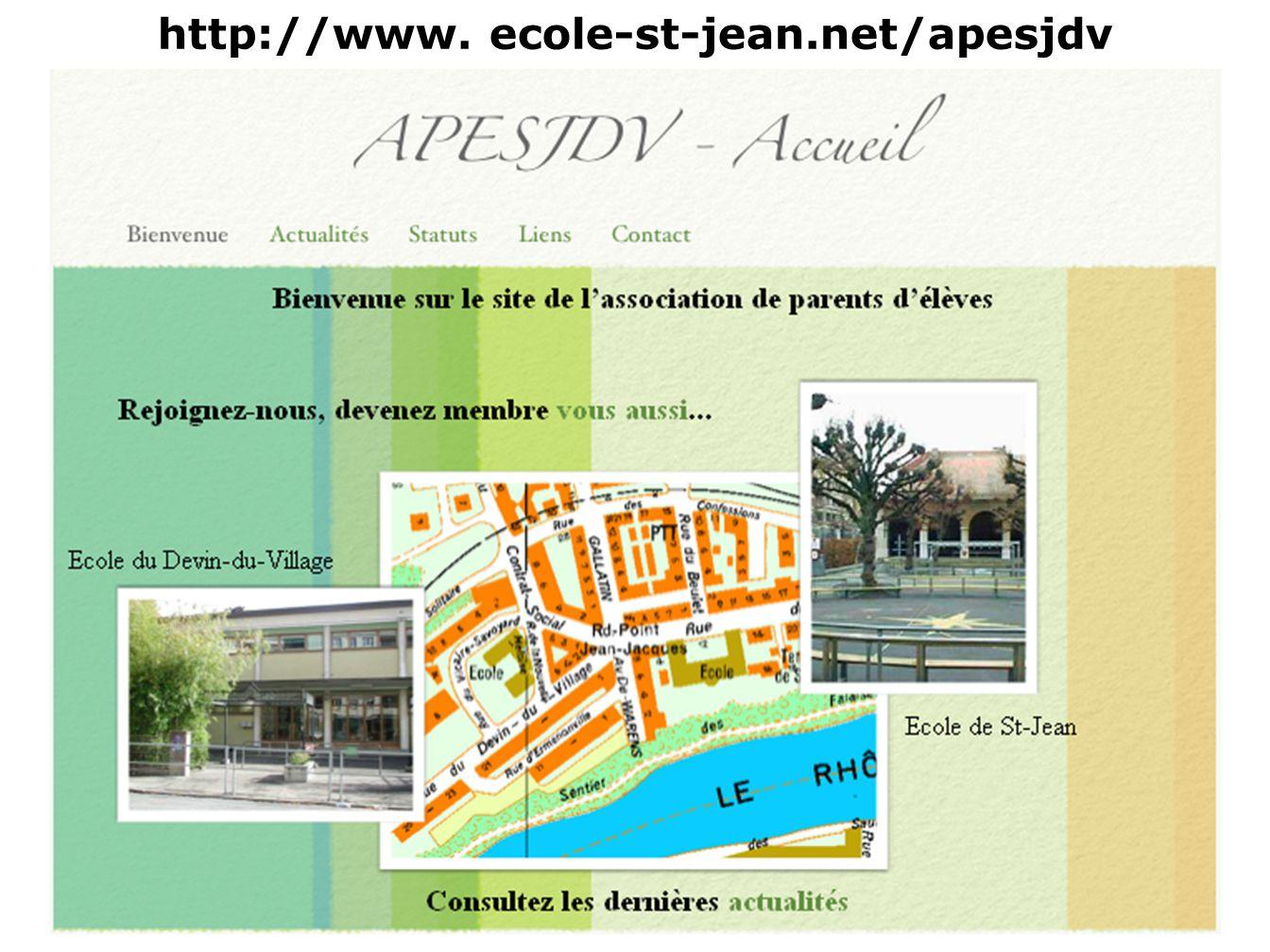 http://www. ecole-st-jean.net/apesjdv