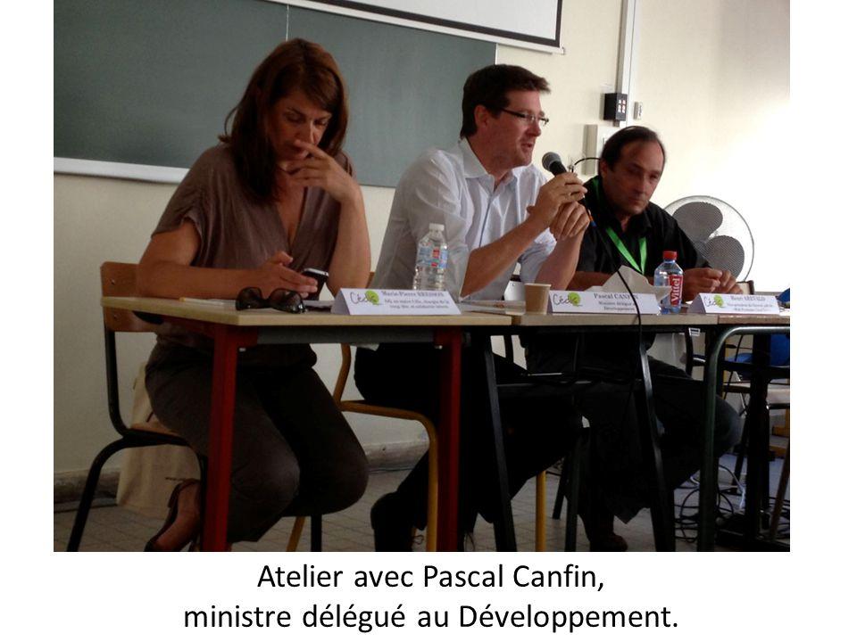 Atelier avec Pascal Canfin, ministre délégué au Développement.