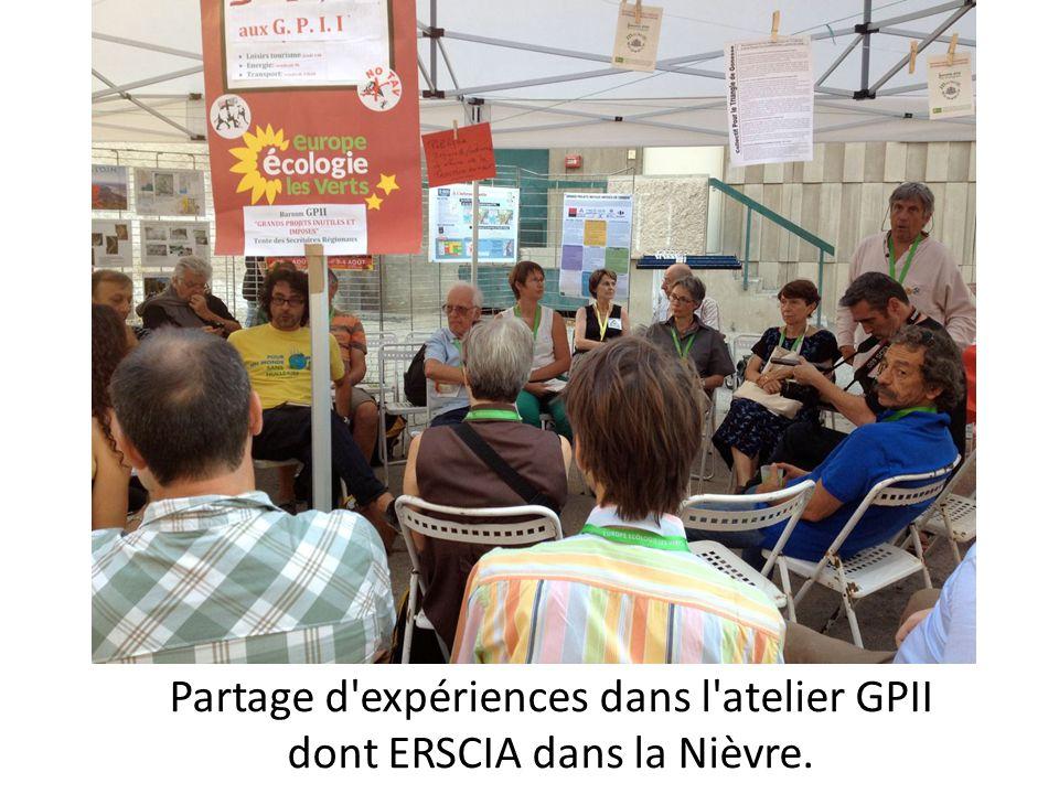 Partage d'expériences dans l'atelier GPII dont ERSCIA dans la Nièvre.
