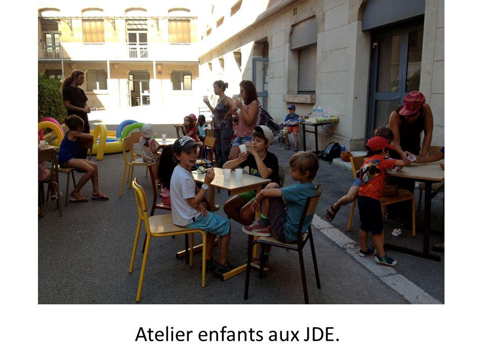 Atelier enfants aux JDE.