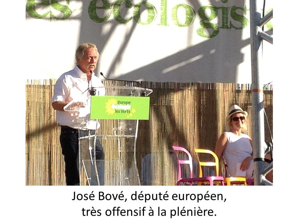José Bové, député européen, très offensif à la plénière.