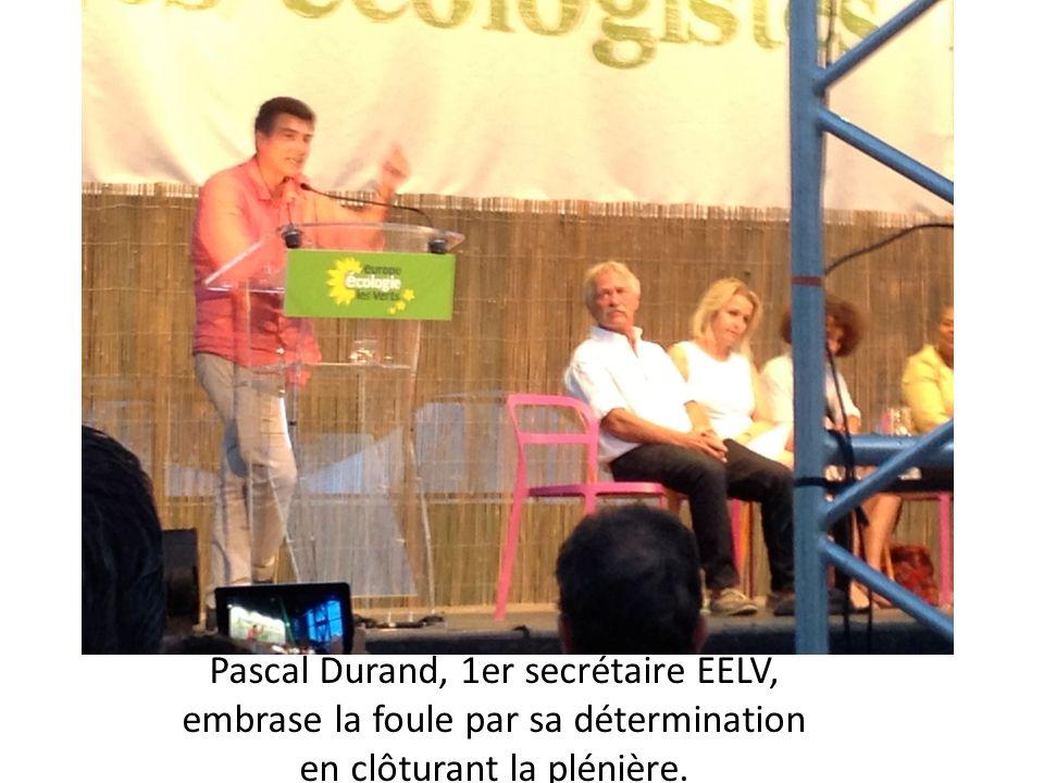 Pascal Durand, 1er secrétaire EELV, embrase la foule par sa détermination en clôturant la plénière.