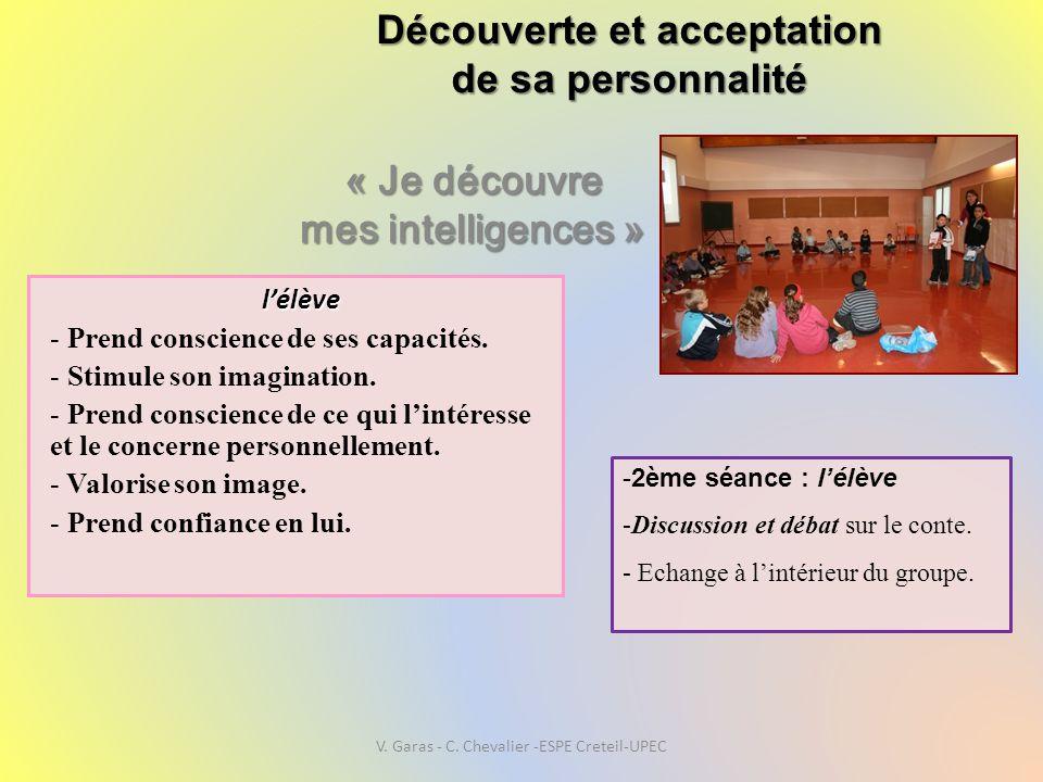 Découverte et acceptation de sa personnalité « Je découvre mes intelligences » l'élève - Prend conscience de ses capacités. - Stimule son imagination.
