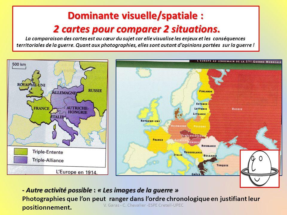 Dominante visuelle/spatiale : 2 cartes pour comparer 2 situations. Dominante visuelle/spatiale : 2 cartes pour comparer 2 situations. La comparaison d