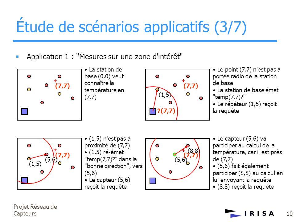 Projet Réseau de Capteurs 10  Application 1 :