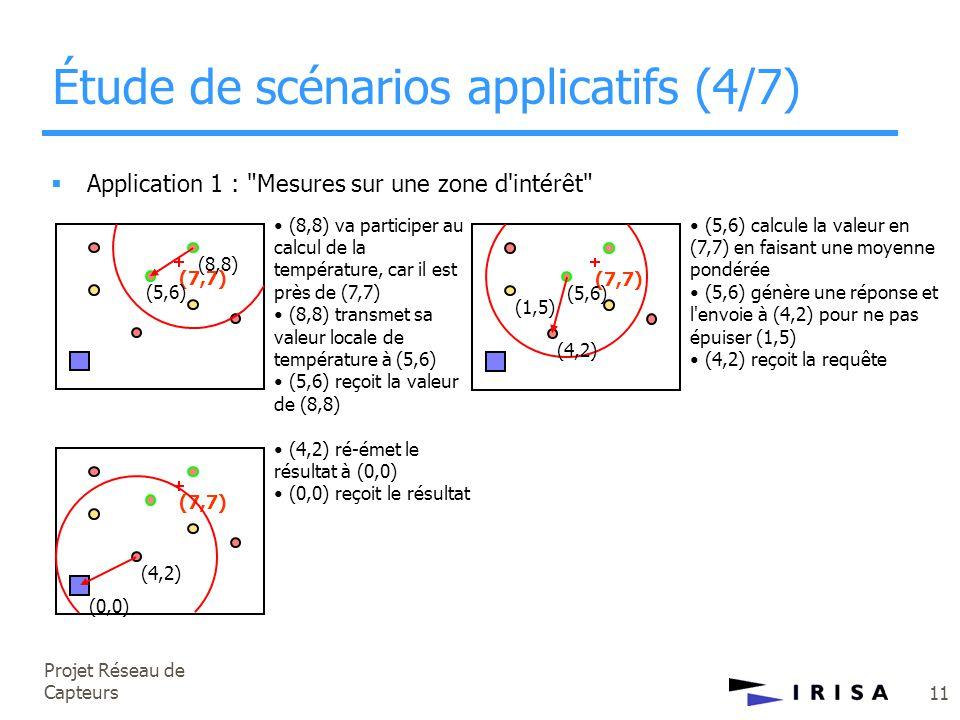 Projet Réseau de Capteurs 11  Application 1 :