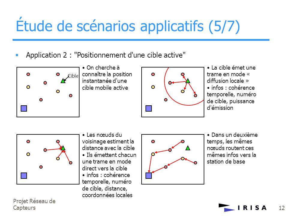 Projet Réseau de Capteurs 12  Application 2 :