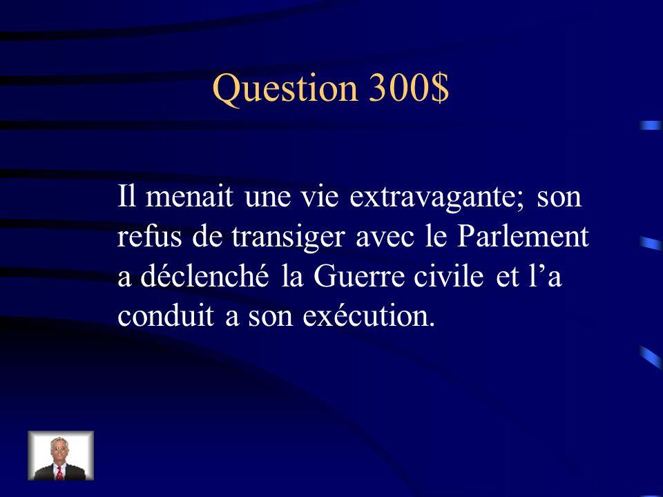 Réponse $200 Marie et Guillaume d'Orange