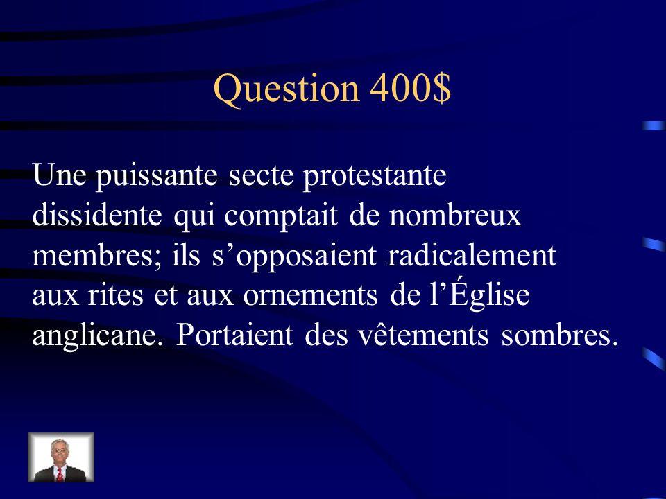 Réponse $300 Charles 1er
