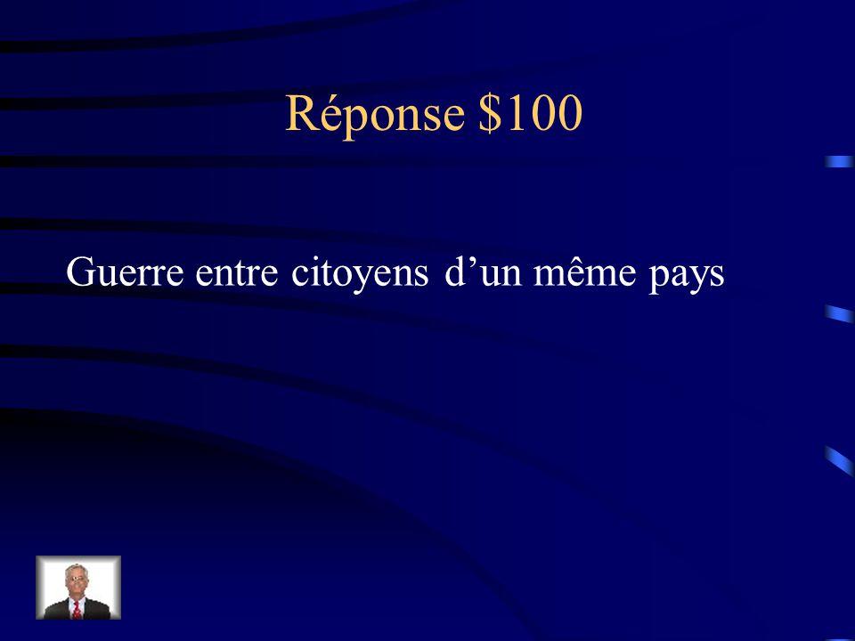 Réponse $100 Monarque