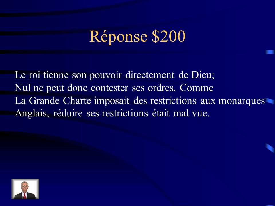 Question 200$ Que signifie l'expression <<royauté de droit divin>>.
