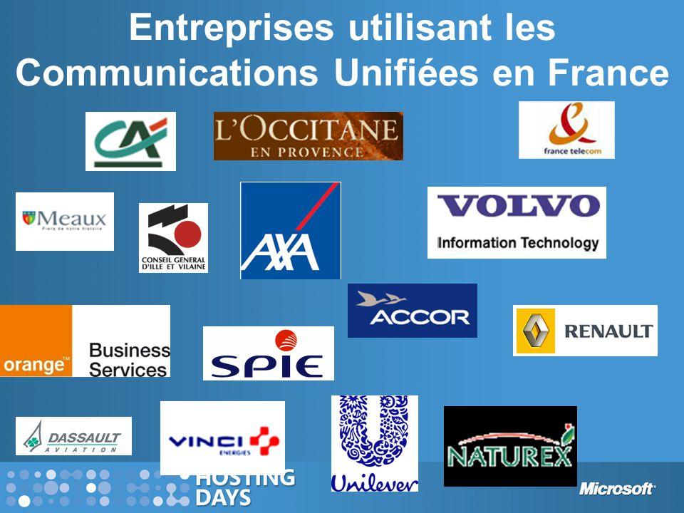 Entreprises utilisant les Communications Unifiées en France