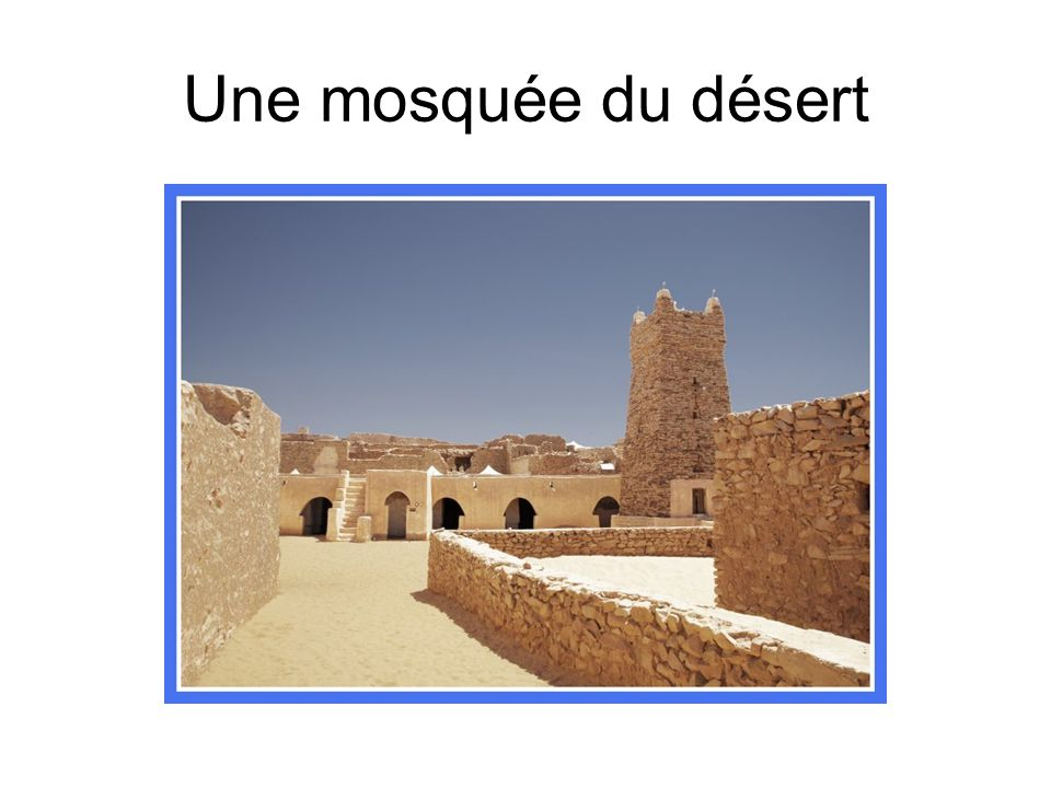 Une mosquée du désert
