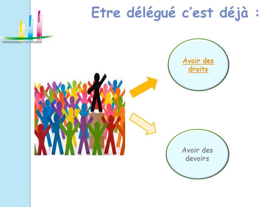 Les droits du délégué  Participer au conseil de classe  Organiser des réunions avec sa classe avec l'accord de la vie scolaire.
