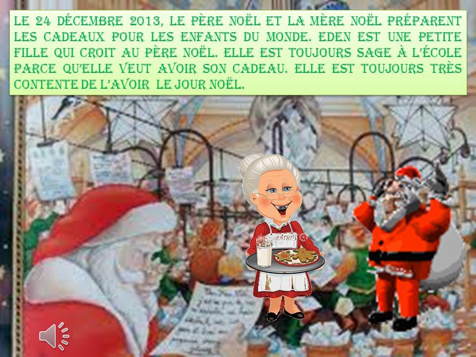 eden voit le Père Noël