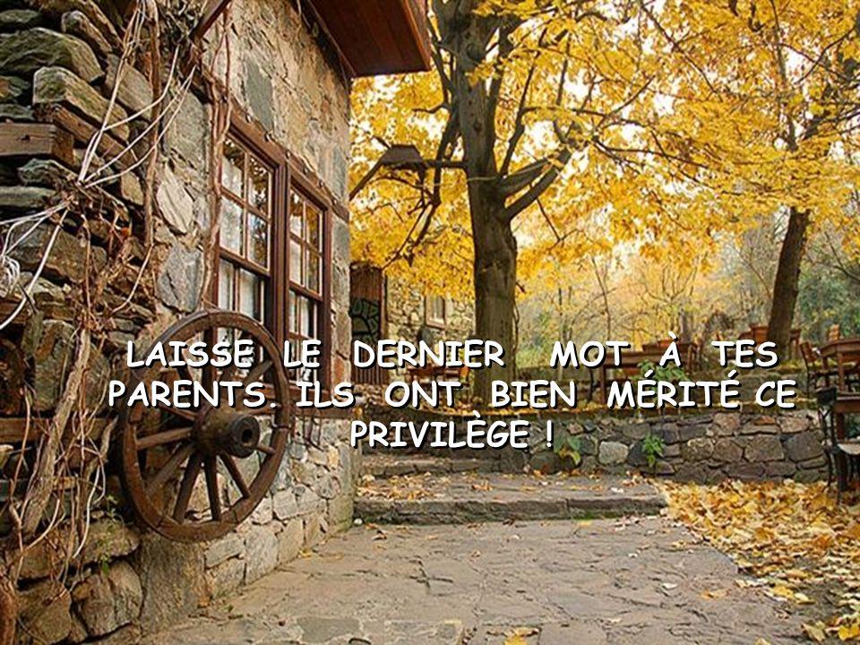 IL N'Y A PAS D'ÉCOLE DE PARENTS .