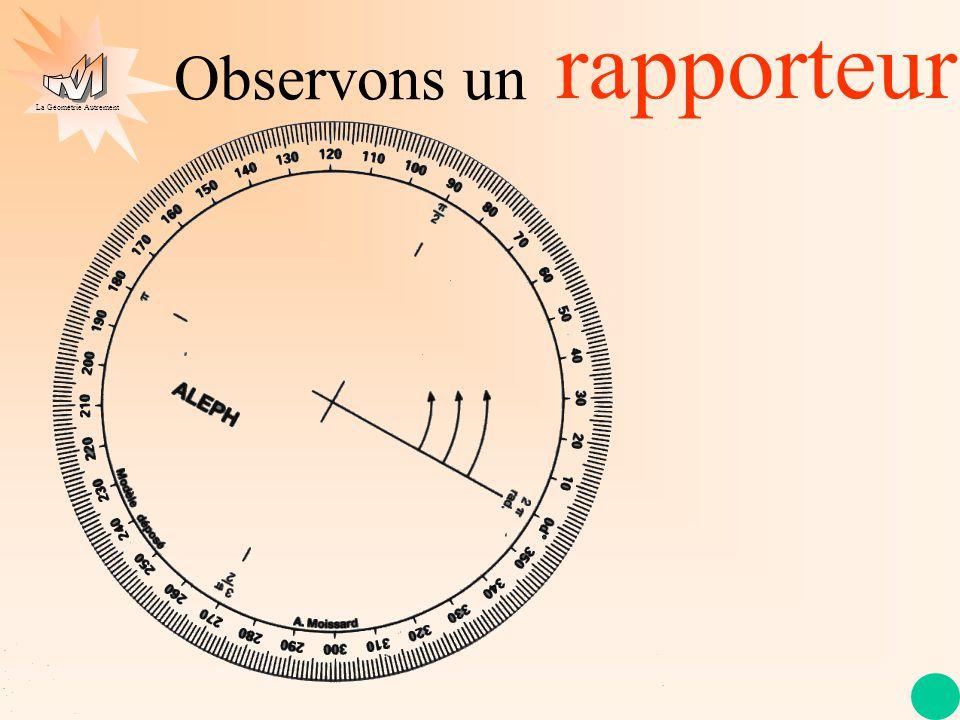 La Géométrie Autrement Observons un rapporteur