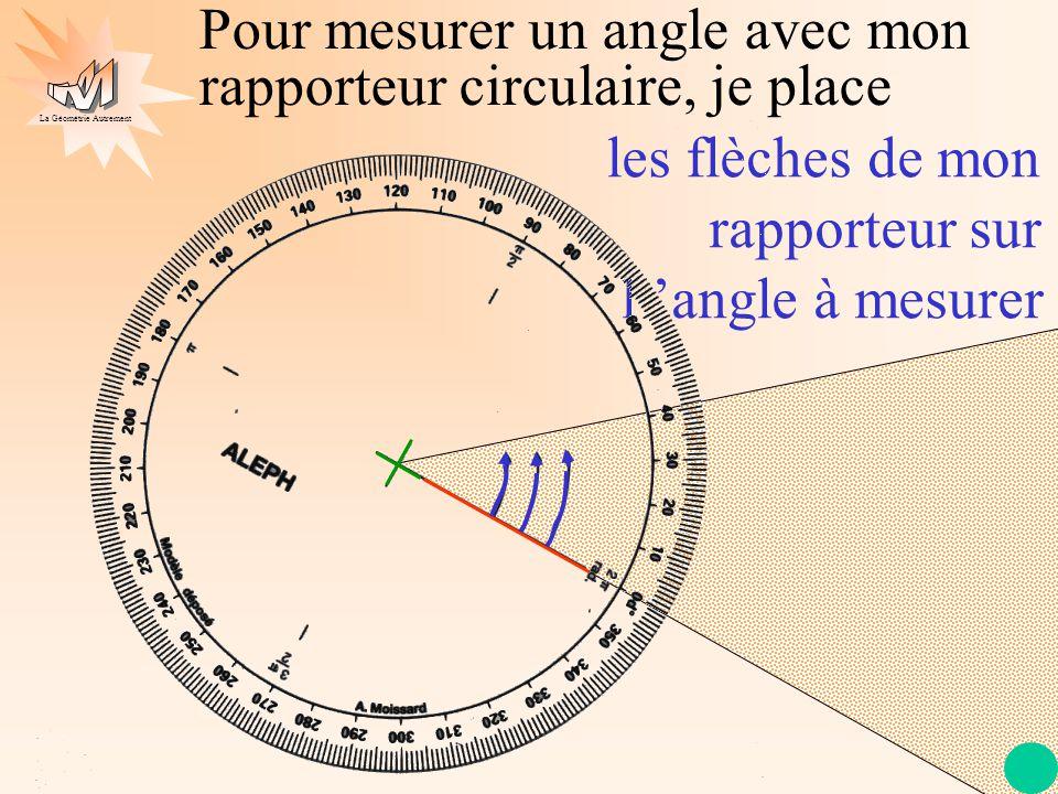 La Géométrie Autrement Je lis la mesure de l 'angle qui est ici 41°