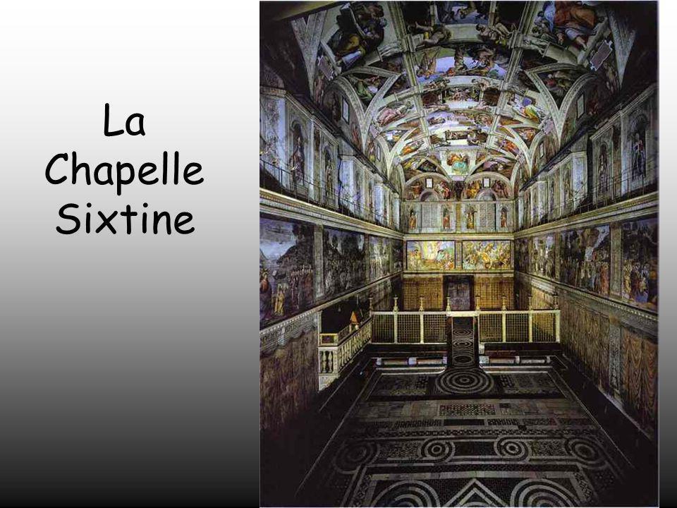 Michel – Ange ne tenait pas à peindre.Le Pape Jules II insista pour qu'il peigne la coupole de la Chapelle Sixtine. Ce travail devint son plus grand c