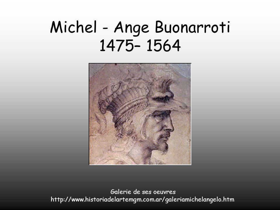 À la mort de Michel -Ange, son corps fut déposé dans un sarcophage à Rome.