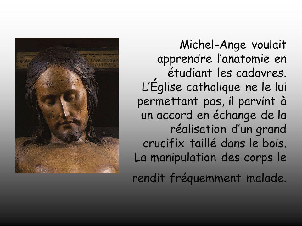 Jeunesse de Michel - Ange •À l'âge de 12 ans, il fit l'apprentissage de la peinture à Florence. •Il vécut au palais de la puissante famille des Médici