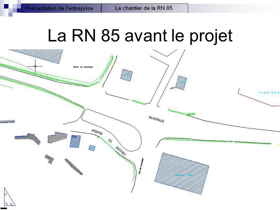 7 La RN 85 avant le projet