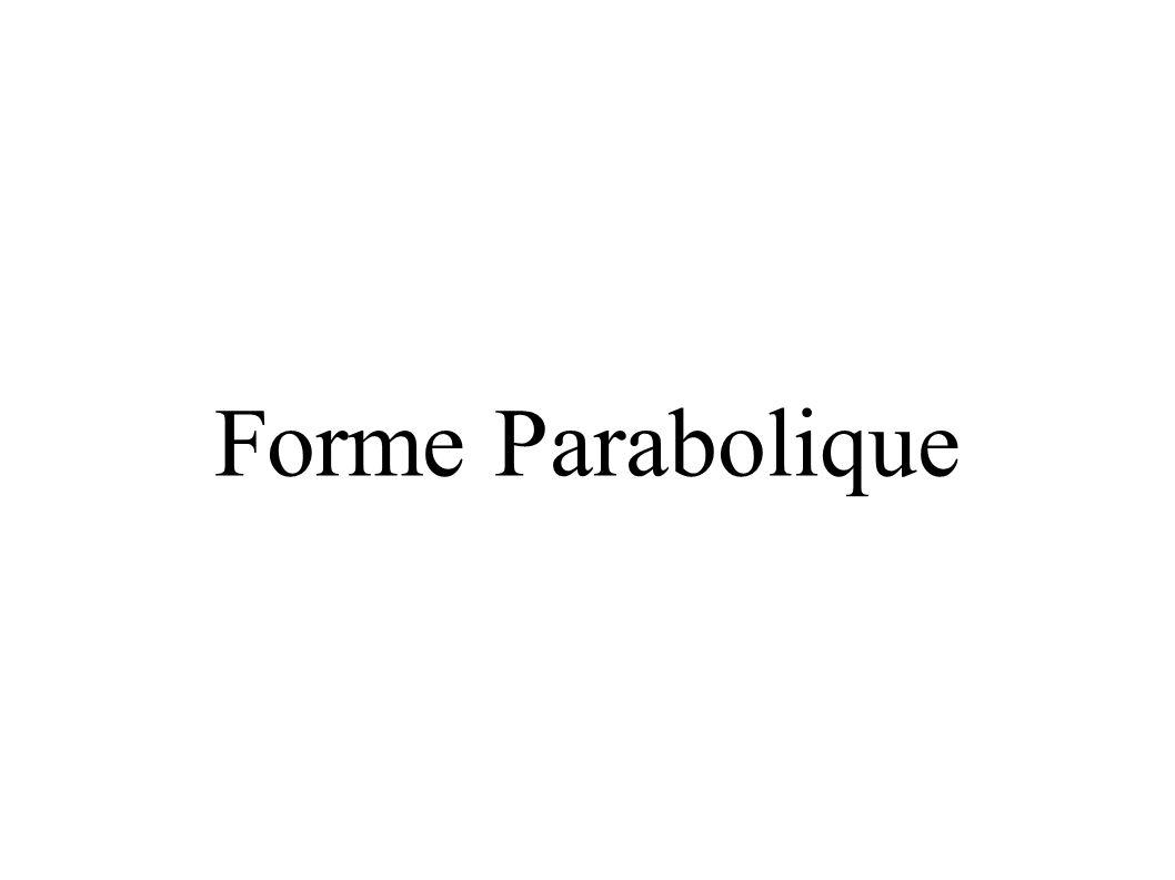Forme Parabolique