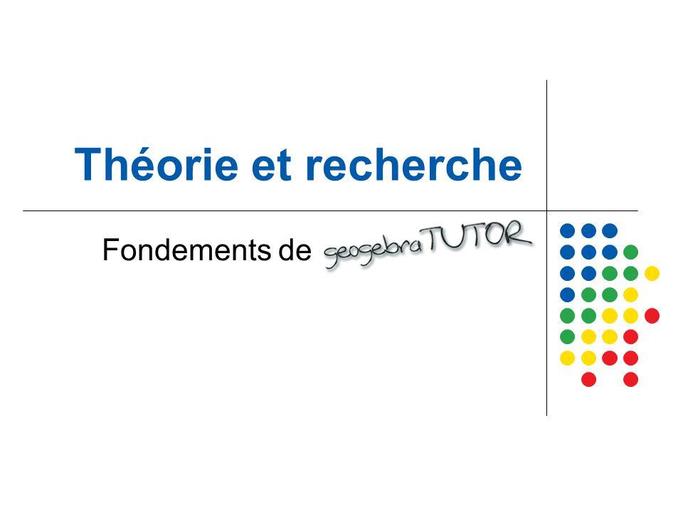 Théorie et recherche Fondements de geogebraTUTOR
