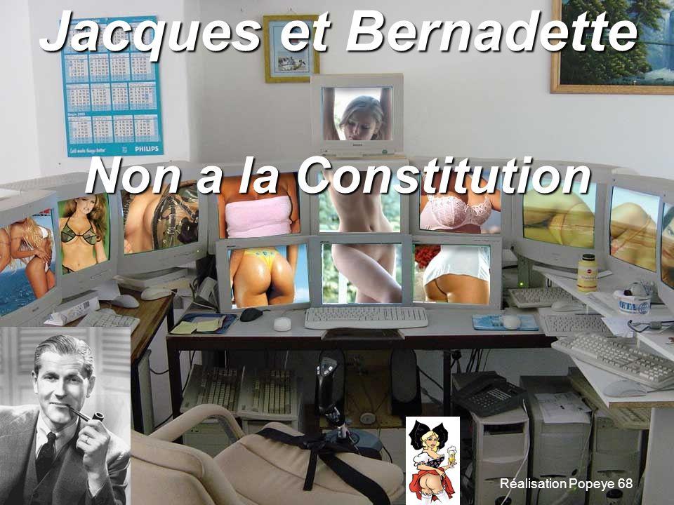 Jacques et Bernadette Non a la Constitution Réalisation Popeye 68